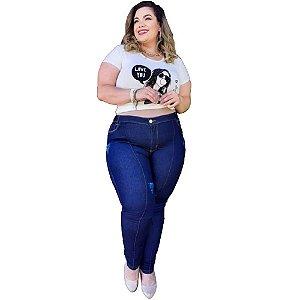 Calça Jeans Feminina Plusize Com Lycra
