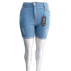 Bermuda Jeans Feminina Cintura Alta