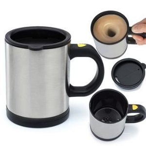 Caneca Mixer 400ml - Inox - Cafe Chocolate