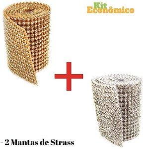 Manta De Strass 7 Cm X 45 Cristal 100 % Original - 2 Unid.