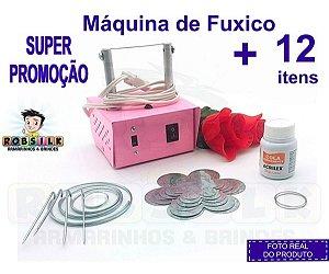Maquina De Corta Fita Fuxico+ 12 Itens - Super Promoção