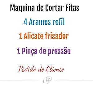 Maquina Para Cortar Fita Flores +  4 Refil + Pinça + Alicate