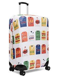 Capa para Mala | Baggage Tag Branca