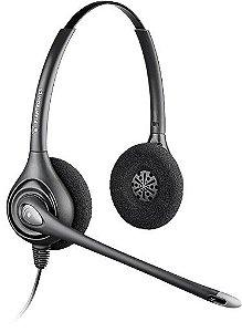 Headset Biauricular Plantronics Supra Plus HW261N c/ cancelamento de ruído e Conector QD