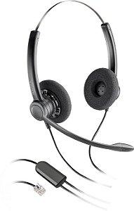 Headset Biauricular Plantronics SP12 c/ conector RJ9