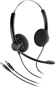 Headset Biauricular Plantronics SP12-PC c/ conector P2