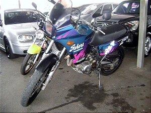nx 350 sahara 1996/1996 com: freio a disco, partida eletrica, motor 350cc