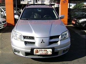 Mitsubishi airtrek mivec 2007/2008 com: ar-condicionado, direção hidraulica, vidros e travas eletricas, banco de couro, cambio automatico