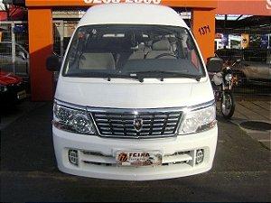 100% financiável/peça por esta condição-microonibus jinbei topic l 2011/2011 com: ventilação quente, limpador e desembaçador traseiro, gasolina, unica dona, 17mkm, manual de proprietario, chave reserva