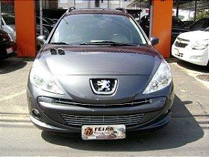 peugeot 207 sw xr-s 2011/2012 com: ar-condicionado/direção hidraulica/vidros e travas eletricas/limpador e desembaçador traseiro/rodas de liga leve/manual de proprietario/chave reserva/