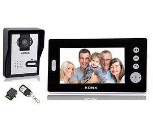 Vídeo porteiro sem fios para uso externo, alcance de 300mts.