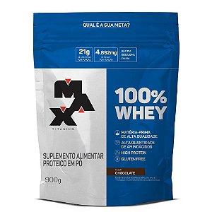 100% Whey Rf 900g Chocolate Max Titanium