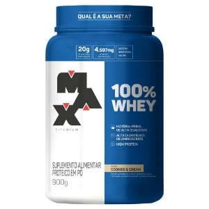 100% Whey Pt 900g Cookies e Cream Max Titaniumum