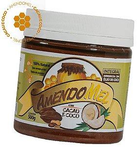 Pasta De Amendoim 500g Cacau Com Coco