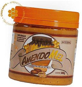 Pasta De Amendoim 500g Com Mel Crocante