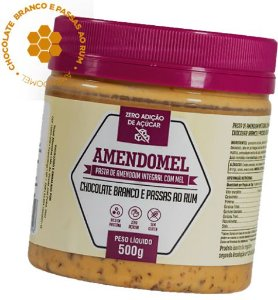 Pasta De Amendoim 500g Choc/bran C/ Passas Ao Rum