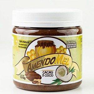 Pasta De Amendoim 1kg Cacau Com Coco