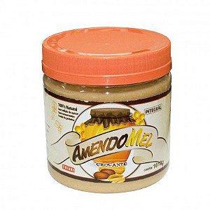 Pasta De Amendoim 1kg Com Mel Crocante