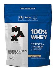 100% Whey Rf 900g Cookies e Cream Max Titanium