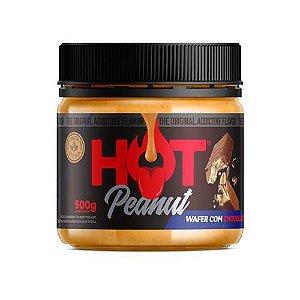 Pasta De Amendoim 500g e Wafer Com Chocolate Hot Fit