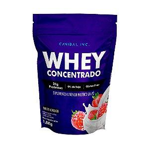 Whey Concentrado 1,8kg Morango Canibal Inc