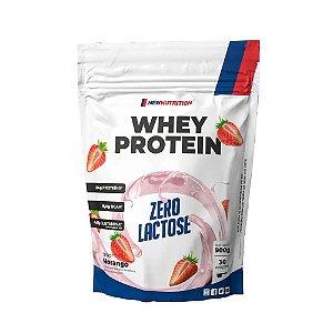 Whey Zero Lactose 900g Morango Newnutrition