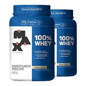 100% Whey Protein (2x 900g) Max Titanium
