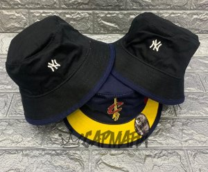 Bucket Hat New Era Dupla Face Cleveland Cavaliers x Yankees Navy Wine