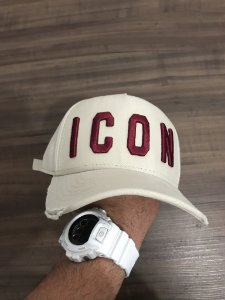 Cap Dsquared2 Icon Cream Wine Strapback Aba Curva