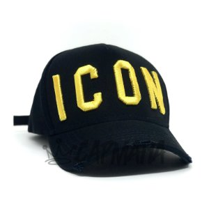 Cap Dsquared2 Icon Black Yellow Strapback Aba Curva