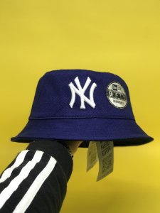 Bucket Hat New Era New York Yankees Navy White