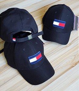 Cap Tommy Hilfiger Flag Black Strapback Aba Curva