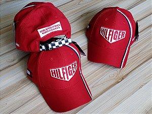 Cap Tommy Hilfiger Grand Prix Red Strapback Aba Curva