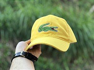 Cap Lacoste Big Croc Classic Yellow Strapback Aba Curva