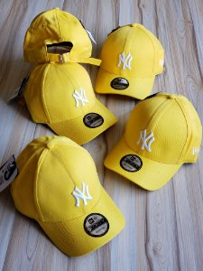 Cap New Era New York Yankees Yellow White Strapback Aba Curva