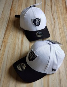 Cap New Era Oakland Raiders Crown Checked White Black Strapback Aba Curva
