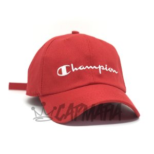Cap Champion Classic Fit Red White Strapback Aba Curva