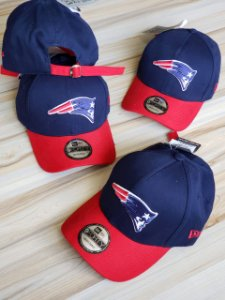 Cap New Era New England Patriots Navy Red Strapback Aba Curva