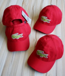 Cap Lacoste Big Croc Classic Red Strapback Aba Curva