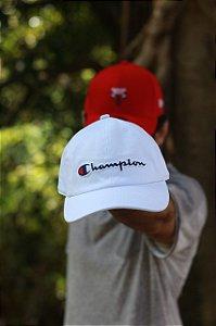 Cap Champion Classic Fit White Strapback Aba Curva