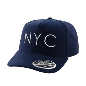 Cap Young Money New York City Navy Snapback Aba Curva