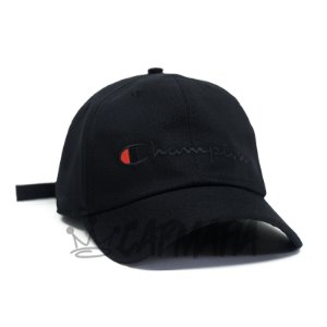 Cap Champion Classic Fit All Black Strapback Aba Curva