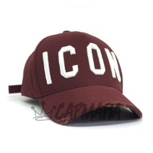 Cap Dsquared2 Icon Wine Strapback Aba Curva