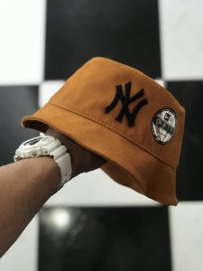 Bucket Hat New Era New York Yankees Caramel