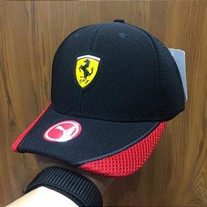 Cap Puma Scuderia Ferrari Black Red Aba Curva