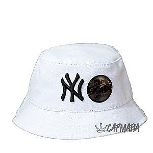 Bucket Hat New Era New York Yankees White Black