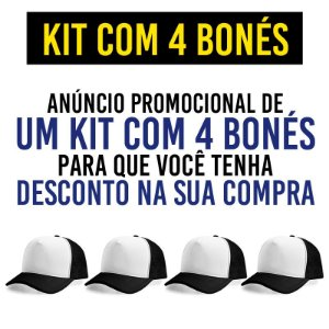 Kit Promocional com 4 Bonés