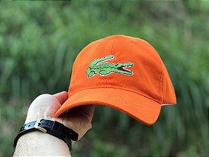 Cap Lacoste Big Croc Classic Orange Strapback Aba Curva