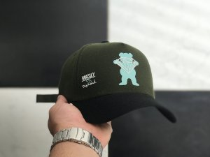 Cap Grizzly Griptape Collab Diamond Green Strapback Aba Curva