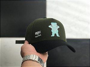 Cap Grizzly Griptape Collab Diamond Green Strapback Aba Curva